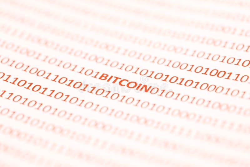 Bitcoin用二进制编码 免版税图库摄影