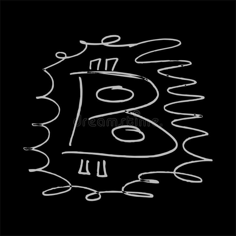 Bitcoin白色艺术 免版税库存图片