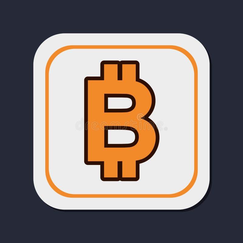 Bitcoin真正金钱 库存例证