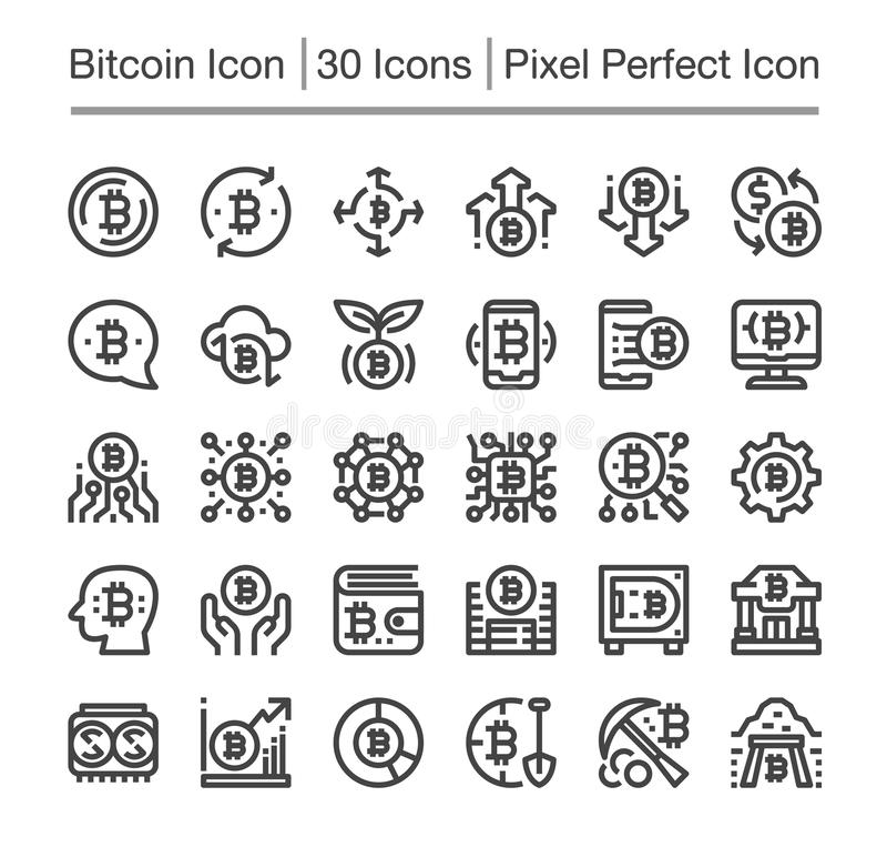 Bitcoin象 库存例证