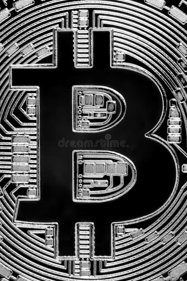 Bitcoin货币特写镜头,企业概念 bitcoin宏观照片  库存照片