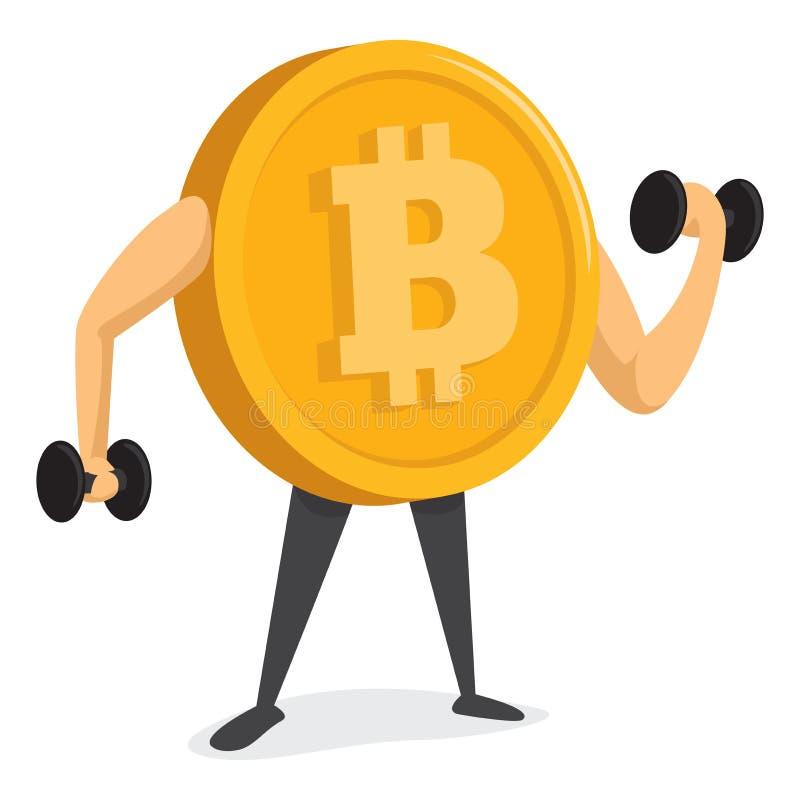 Bitcoin货币训练和得到强 库存例证