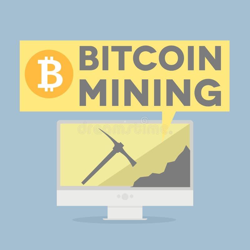 Bitcoin采矿 皇族释放例证