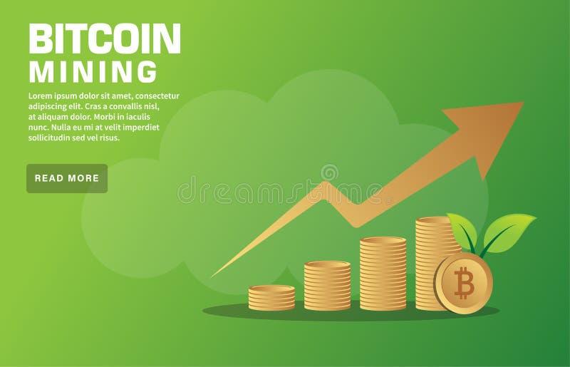 Bitcoin采矿Webinar 库存例证