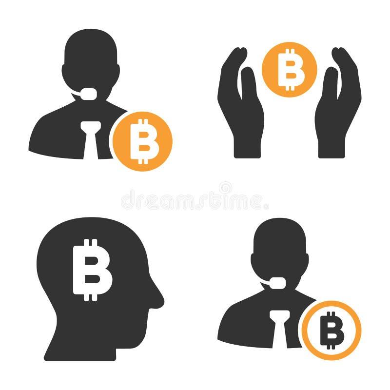 Bitcoin银行家传染媒介象集合 向量例证