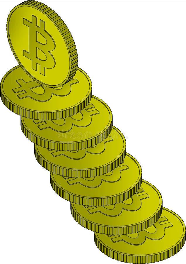 Bitcoin, cryptocurrency硬币 图库摄影