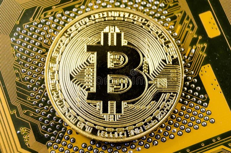 Bitcoin è un modo moderno dello scambio e di questa valuta cripto immagine stock libera da diritti
