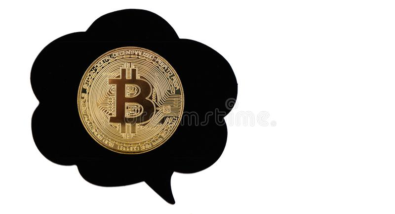 Bitcoin στη φυσαλίδα στοκ εικόνα με δικαίωμα ελεύθερης χρήσης