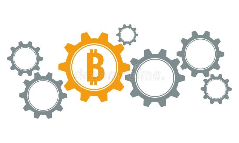 Bitcoin зацепляет концепцию бесплатная иллюстрация