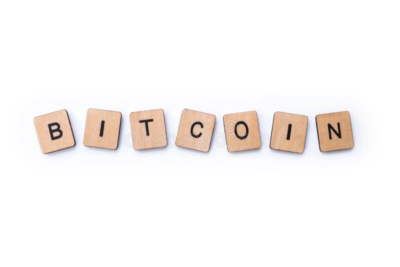 Bitcoin слова стоковая фотография rf