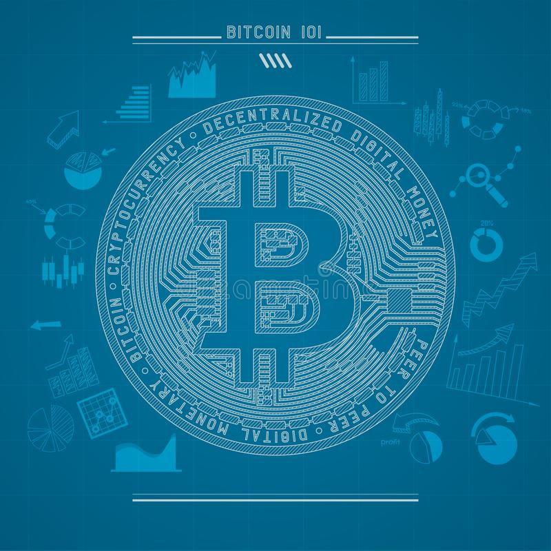 Bitcoin 101 stock illustratie