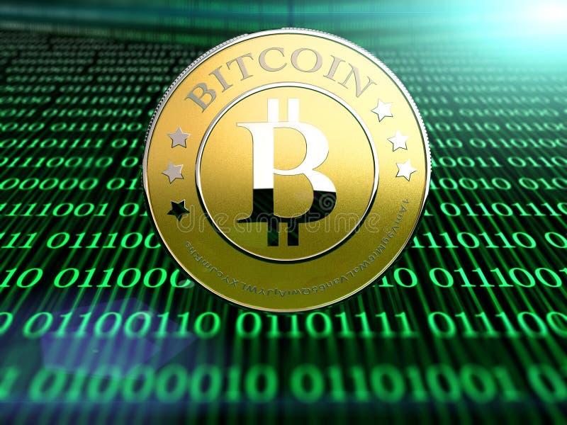 Bitcoin royaltyfri illustrationer