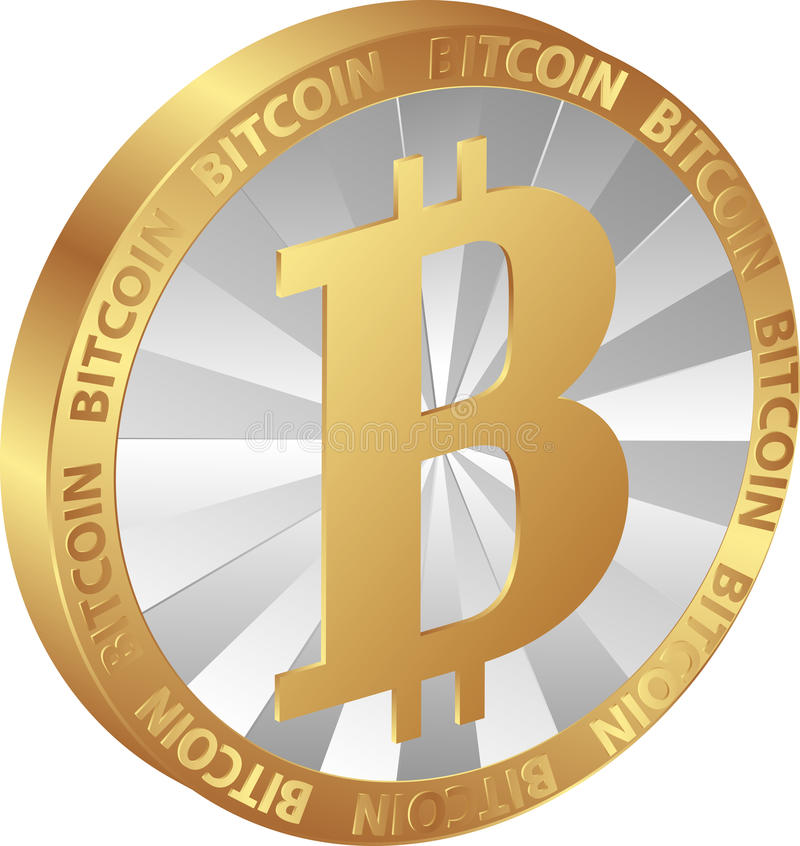 Bitcoin illustration stock