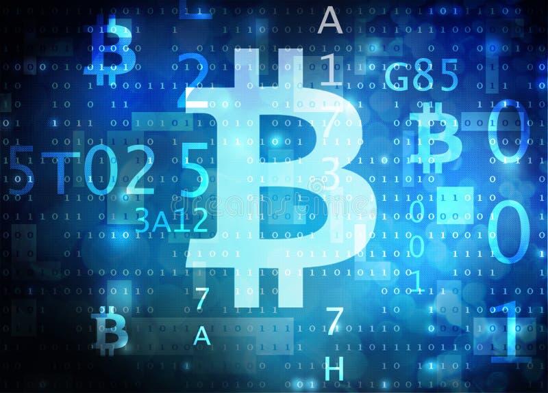 Bitcoin illustration stock