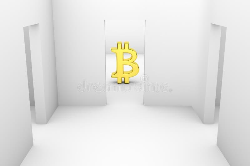 Bitcoin illustrazione vettoriale