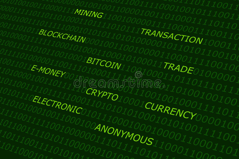 Bitcoin abstract background stock photo