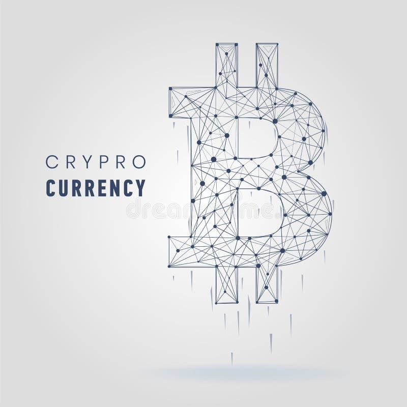 Bitcoin abstracto de las líneas y de los puntos del puré libre illustration