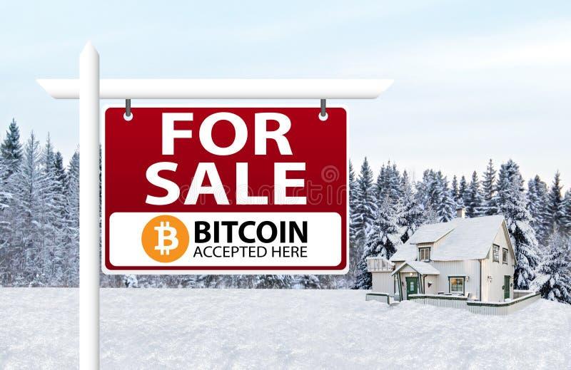 Bitcoin accepteras som betalning royaltyfria foton