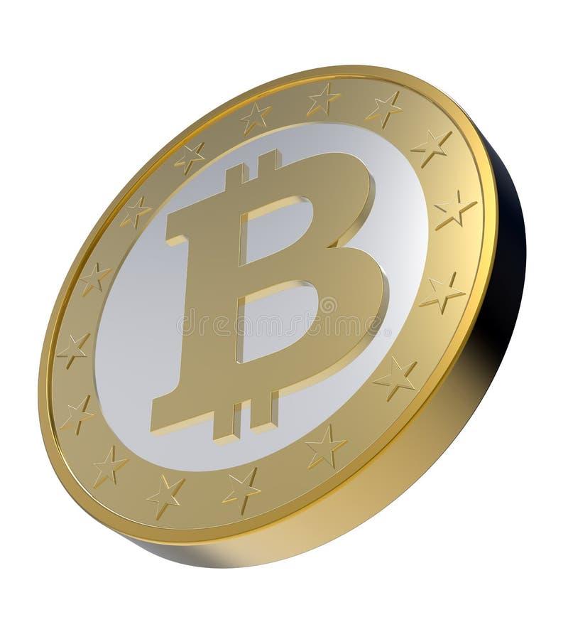 Bitcoin aisló en blanco. libre illustration
