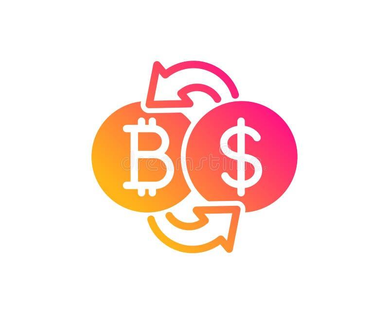 Bitcoin-Austausch-Ikone Cryptocurrency-M?nzenzeichen Vektor stock abbildung
