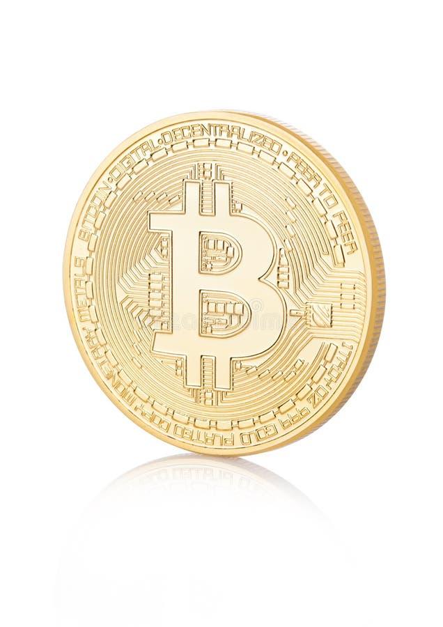 Bitcoin Badanie lekarskie kawałka moneta Cryptocurrency zdjęcie stock