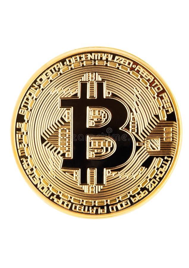 Bitcoin Badanie lekarskie kawałka moneta Cryptocurrency obrazy stock