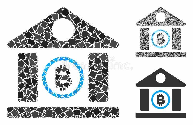 Bitcoin Bank Building Composition Icon of Uneven Pieces бесплатная иллюстрация