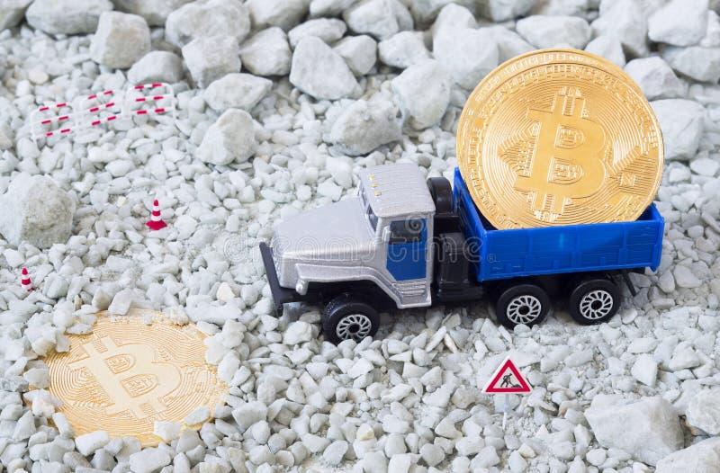 Bitcoin-Bergbaukonzept stockbild