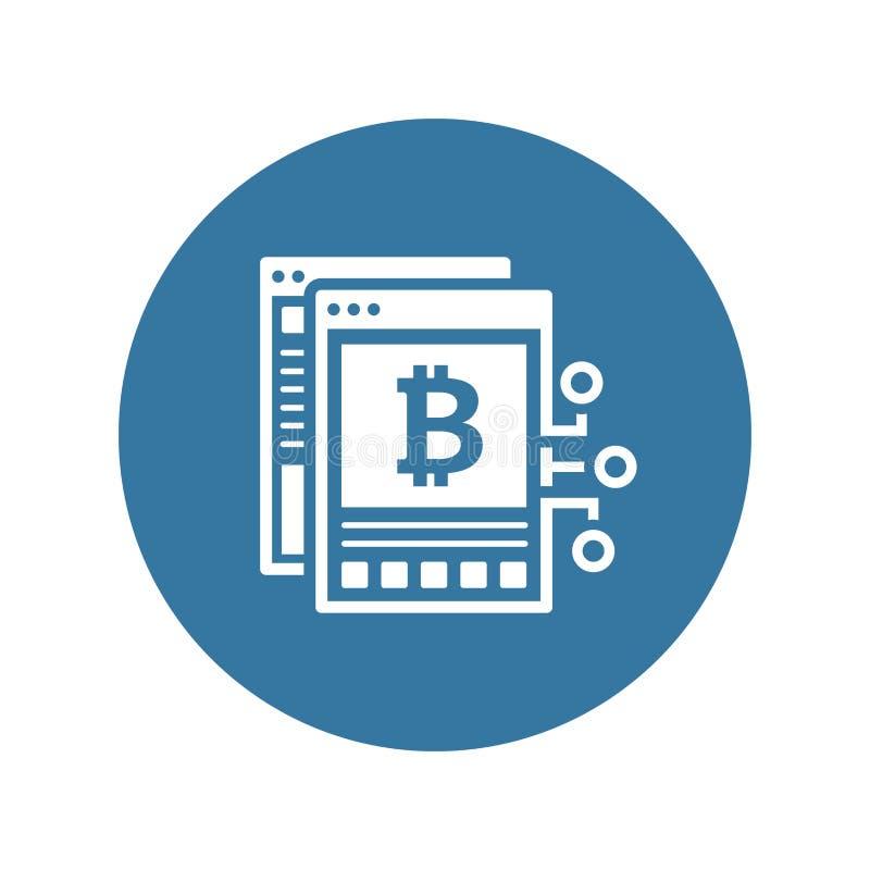 Bitcoin Białego papieru ikona royalty ilustracja