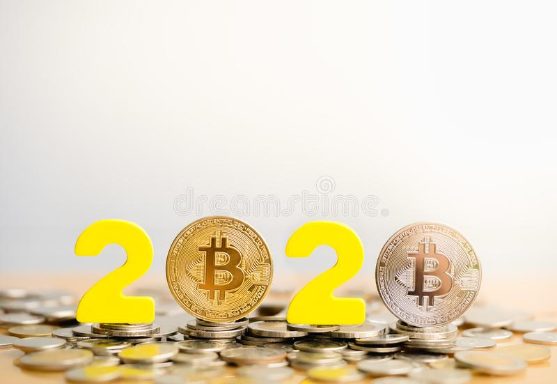 Bitcoin 2020 imagen de archivo libre de regalías