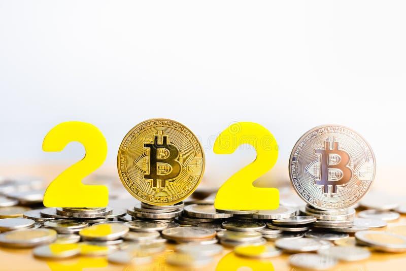 Bitcoin 2020 lizenzfreie stockfotos