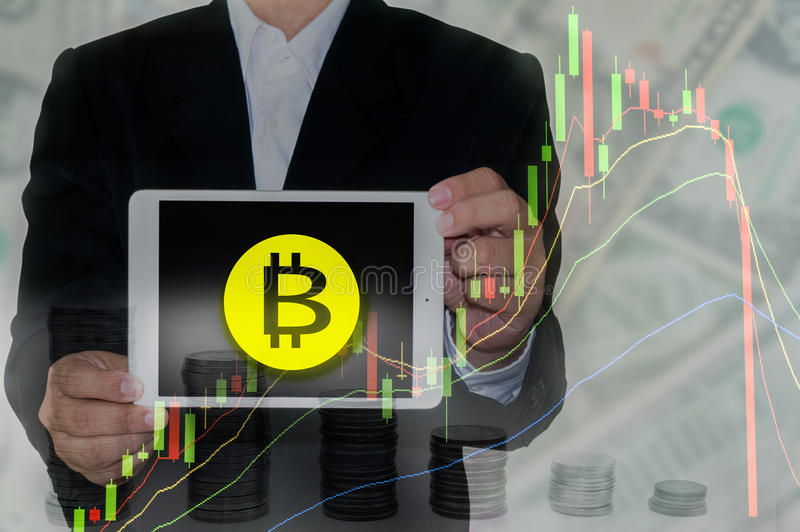 Bitcoin And Blockchain Concept Stock Image Image Of Cryptocurrency