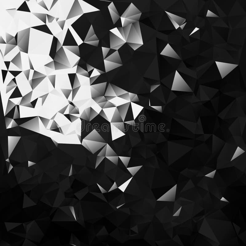 Bitcoin and blockchain technology concept on dark triangular background vector illustration