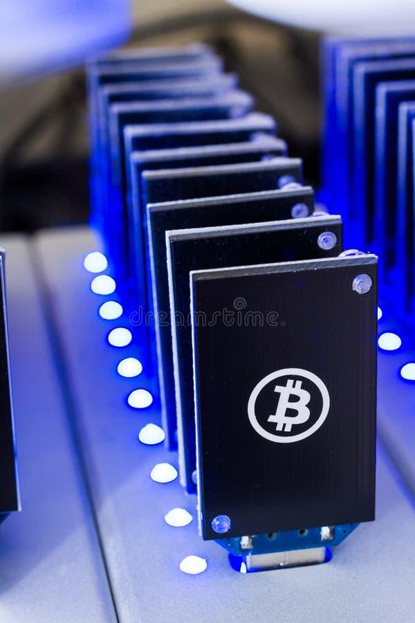 Bitcoin bryta arkivfoto
