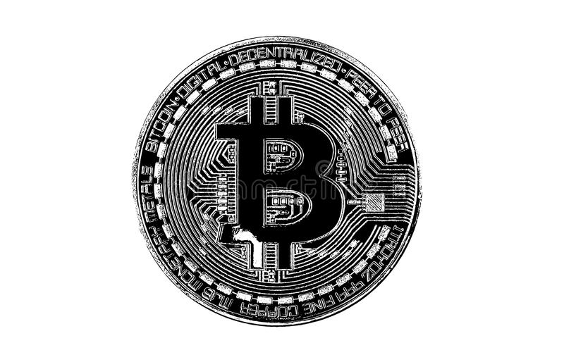 Isolated bitcoin royalty free stock images