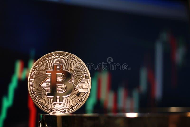 Bitcoin bullish chart rally stock photo