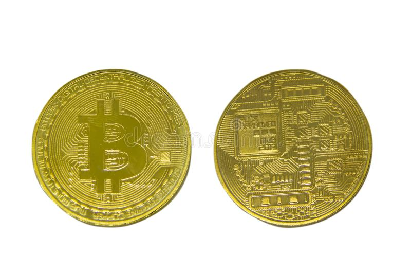 Bitcoin. New way of business bitcoin currency is payment in global business market. royalty free stock photo