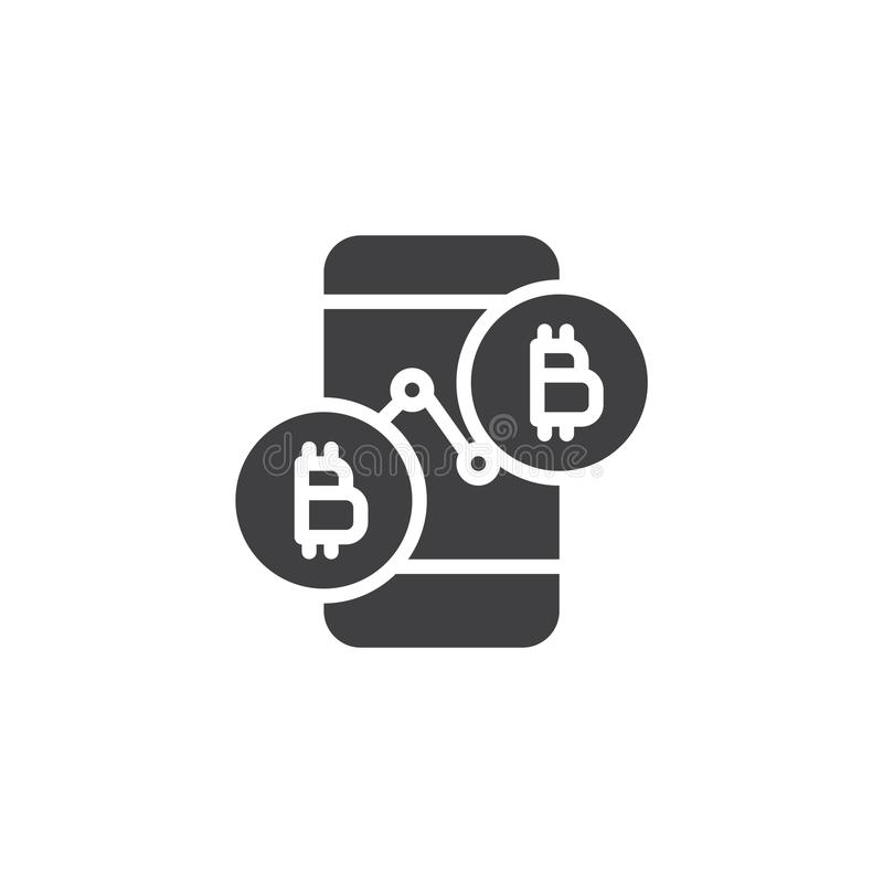 Bitcoin ceny mapy wektoru ikona royalty ilustracja
