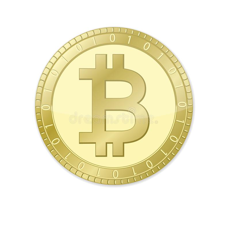 Bitcoin coin royalty free illustration