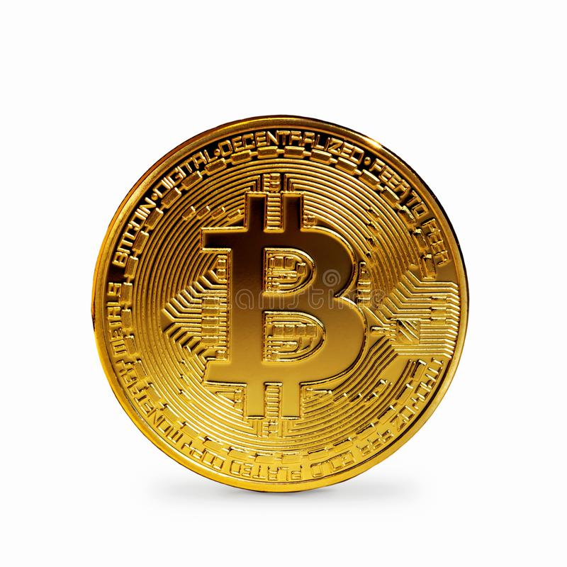 Bitcoin coin isolated. On a white background vector illustration