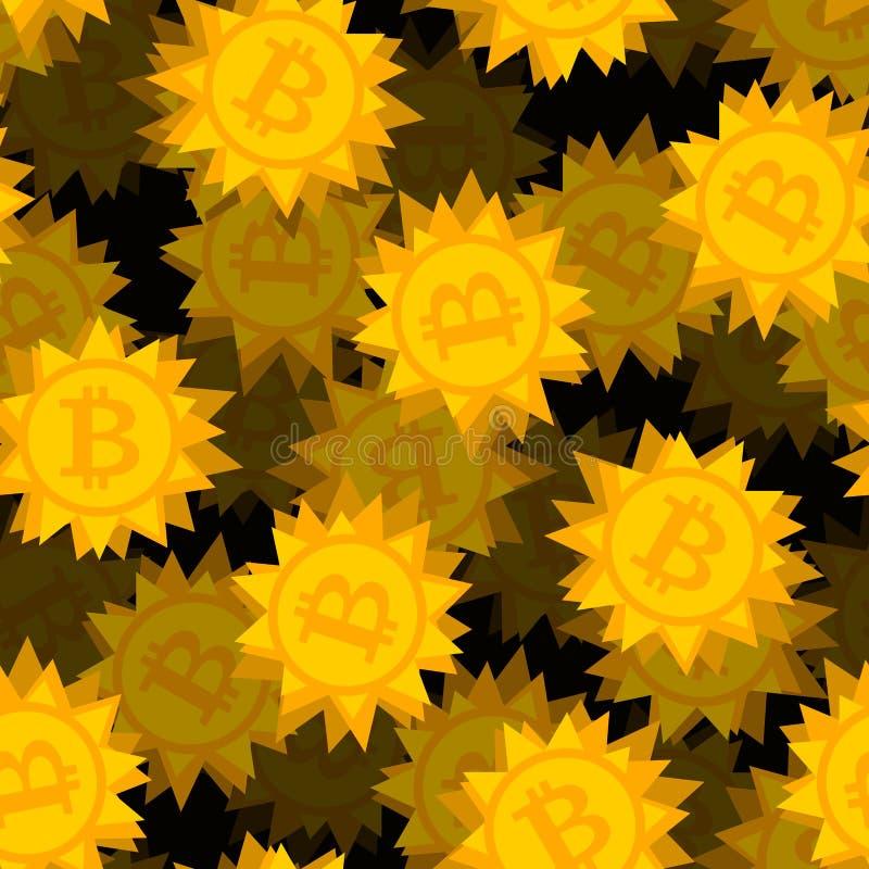 Bitcoin-Computervirusmuster Schlüsselwährung ist Netzwanze backg vektor abbildung
