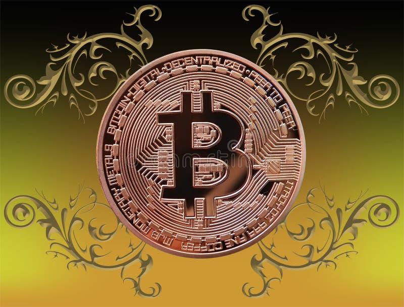 Bitcoin con los ornamentos libre illustration
