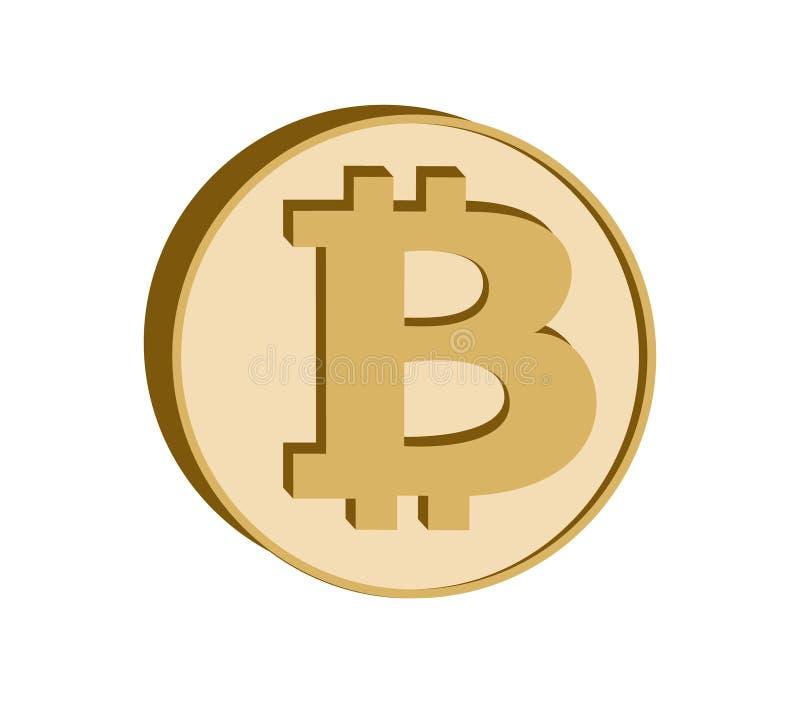 Bitcoin crypto currency symbol,golden coin icon. vector illustration