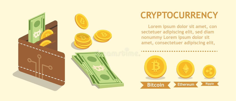 Bitcoin Cryptocurrency 数字式钱包和财务概念 Wal 皇族释放例证