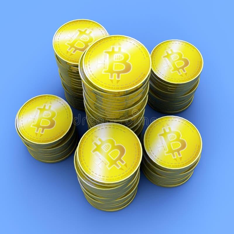 Bitcoin, cryptocurrency, argent électronique, devise virtuelle, transitions illustration de vecteur