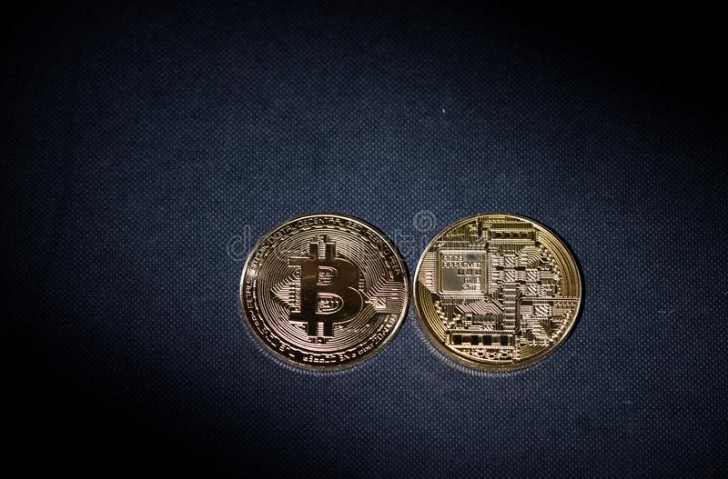 Bitcoin Cryptocurrency btc obraz stock