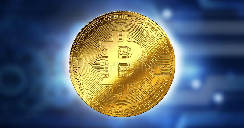 Bitcoin Cryptocurrency Digital Bit Business concept, Innovation Computer Data Technology,Cryptocurrency future background royalty free illustration