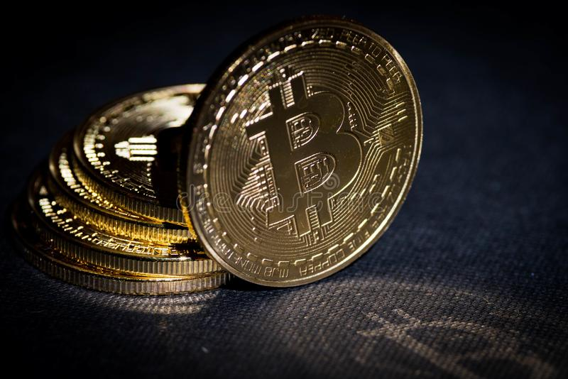 Bitcoin Cryptocurrency btc royalty free stock photo