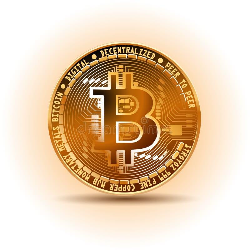 Bitcoin, cryptocurrency, elektronisches Geld lizenzfreie stockbilder