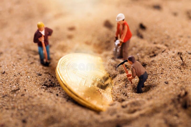 Bitcoin cryptocurrency górniczy pojęcie fotografia stock
